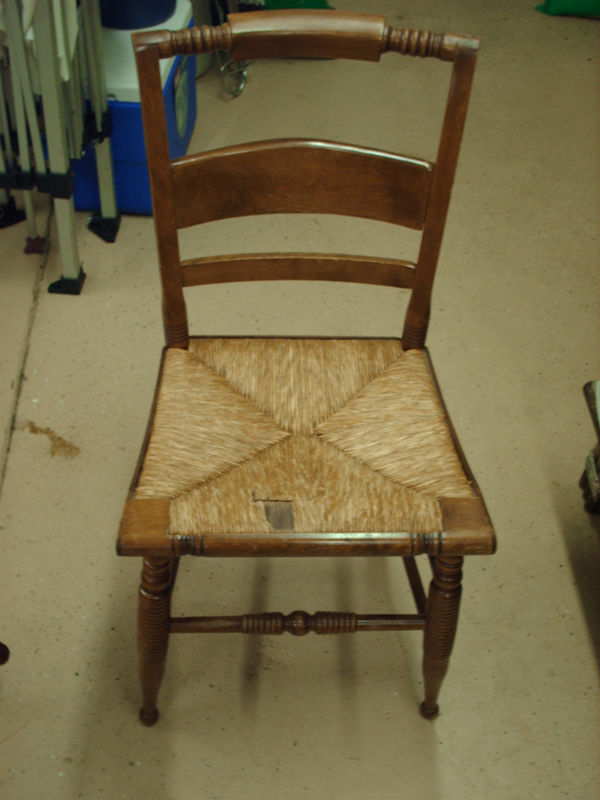 Hitchcock Style Genuine Rush Chair