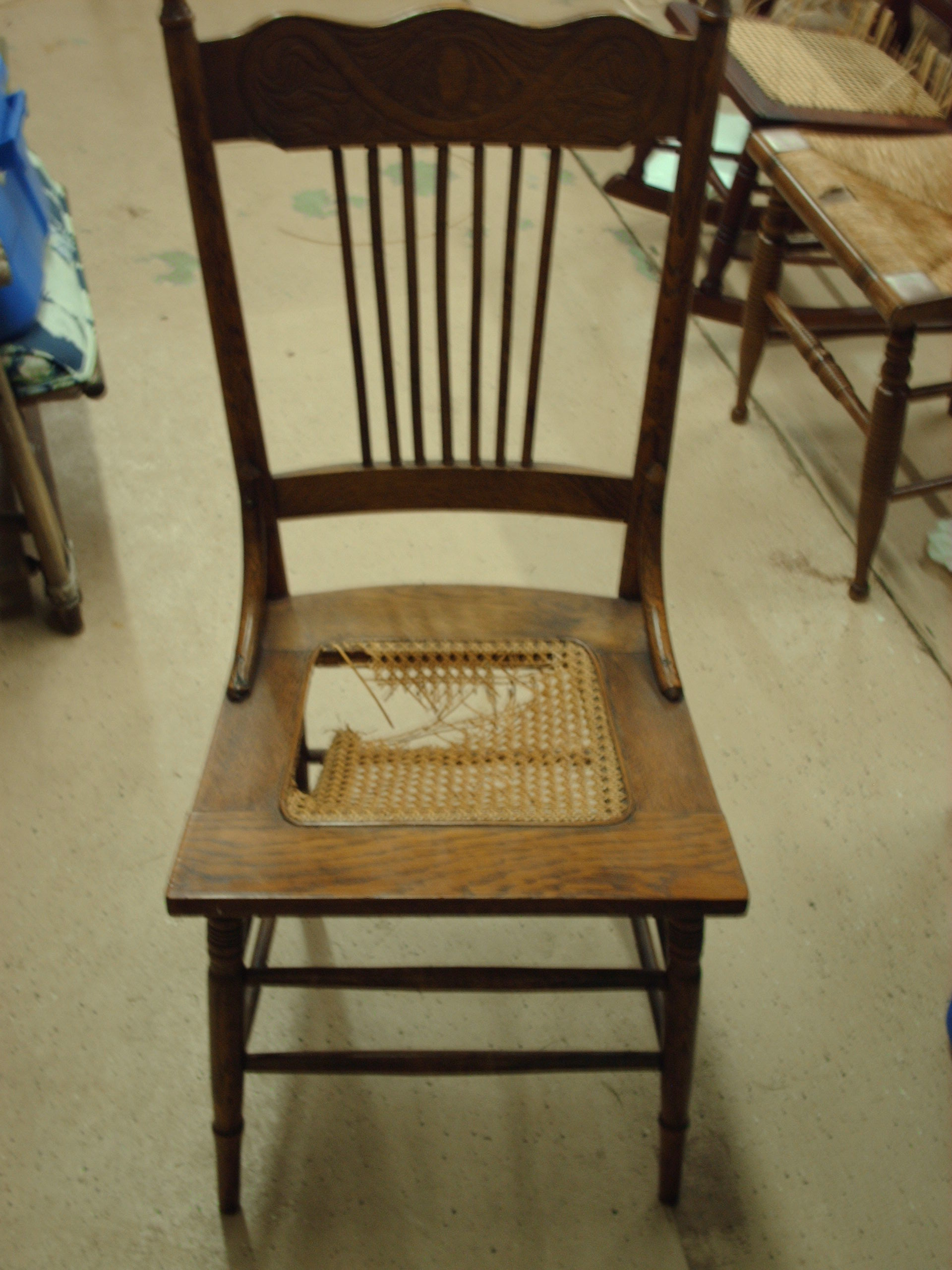Chair caning supplies - Oak Pressed Cane Chair