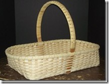 Williamsburg Low Basket with Cane Braid Handle